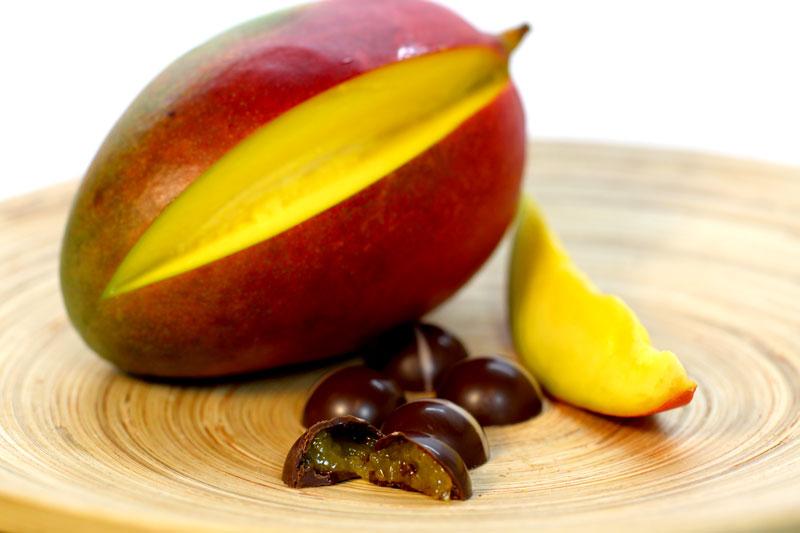 Bombón de mango grátis con cada pedido