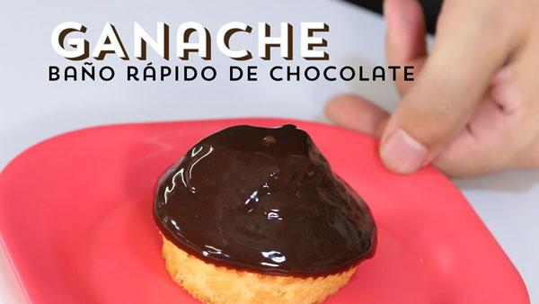 Baño rápido de Chocolate para tartas – Ganache
