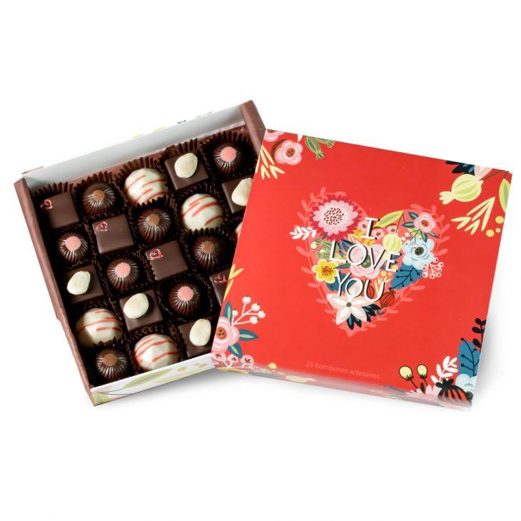 selección bombones para enamorados