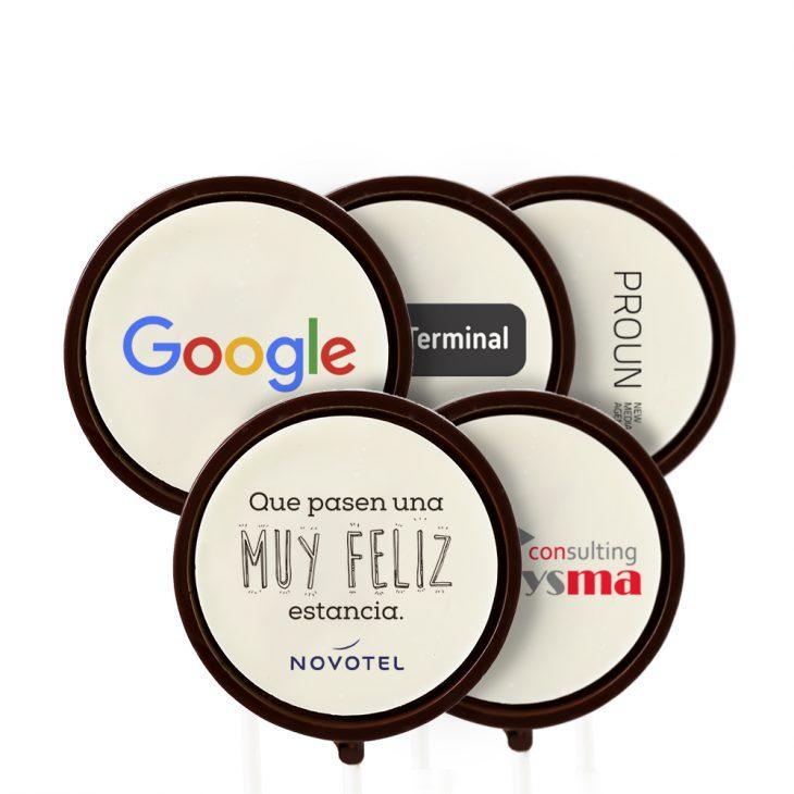 Piruletas de chocolate para empresas