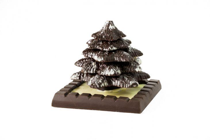 Árbol de chocolate navideño