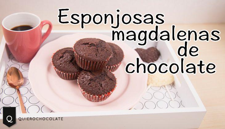 Receta: magdalenas de chocolate esponjosas